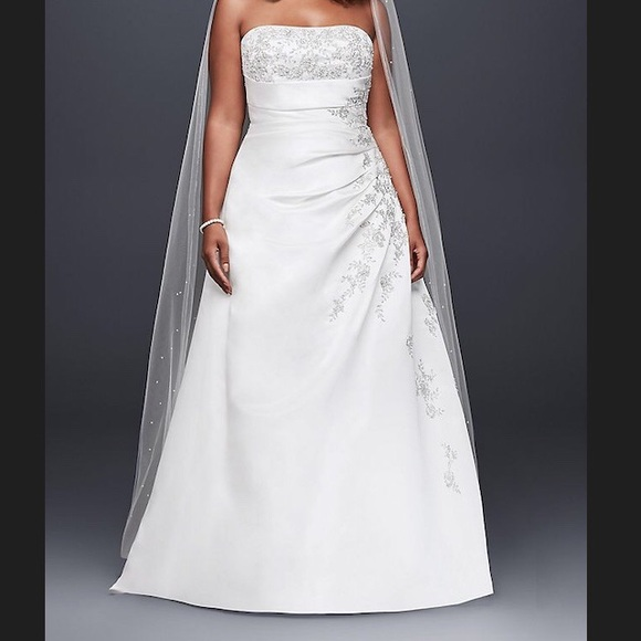 David's Bridal Dresses & Skirts - A-line Wedding Dress with Lace Up Back